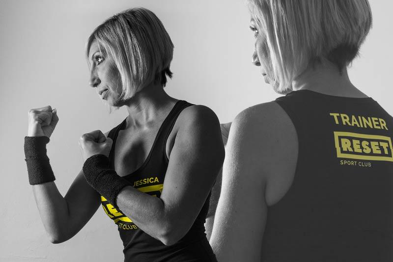 woman boxing pose